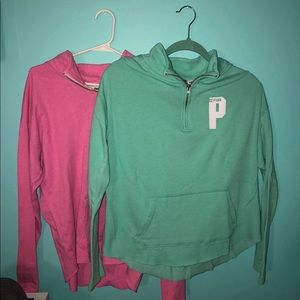 PINK quarter zip package deal!